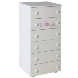 Hella with 6 drawers white with room Maja rose -057