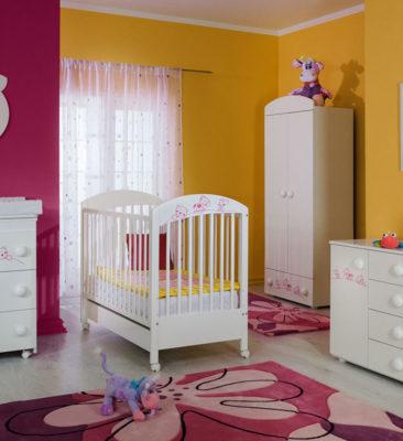 Детская комната Maja бело-розовый